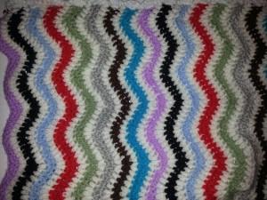 couverture bébé tricot personnalisé Rainbow
